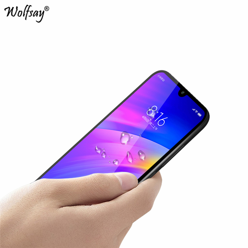 Image 2 - 2PCS Full Glue Glass For Xiaomi Redmi 7 Screen Protector Tempered Glass For Xiaomi Redmi 7 Glass Phone Film For Xiaomi Redmi 7 <-in Phone Screen Protectors from Cellphones & Telecommunications