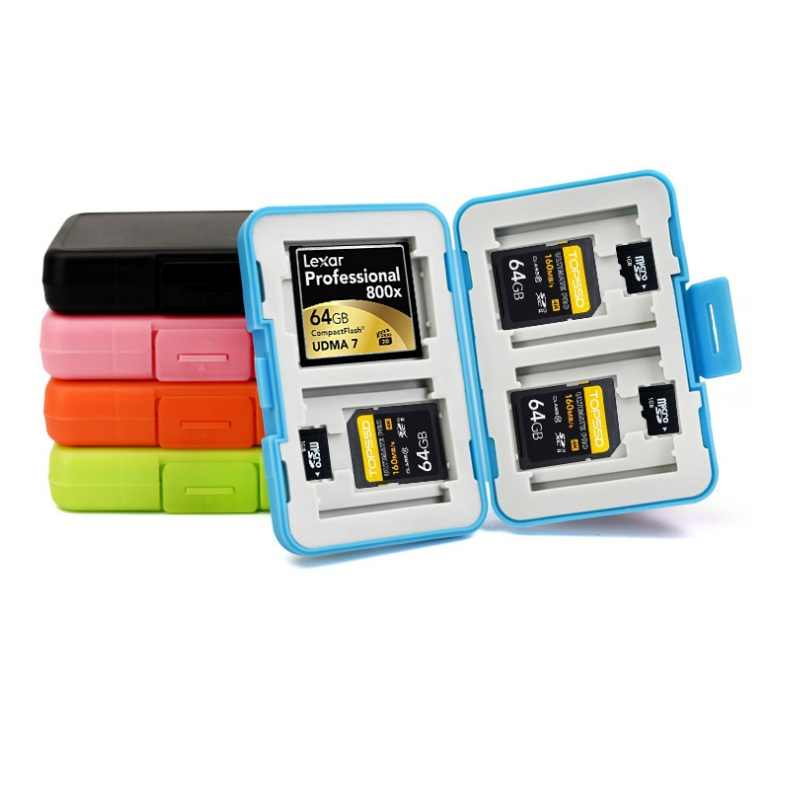 Memory Card Case Box Storage Holder 4 SD  4TF  Micro SD Card 4 CF 12Cards Hard Bag Waterproof plastic shaped 4TF+4SD+4CF
