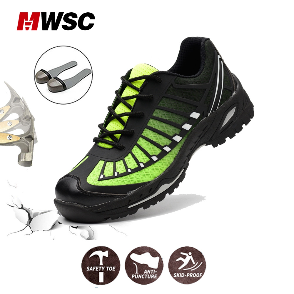 Man Safety Shoes Men's Steel Toe Shoes Work shoes for Man Work Boots Construction Area Safety Shoes Sneaker Anti-smashing