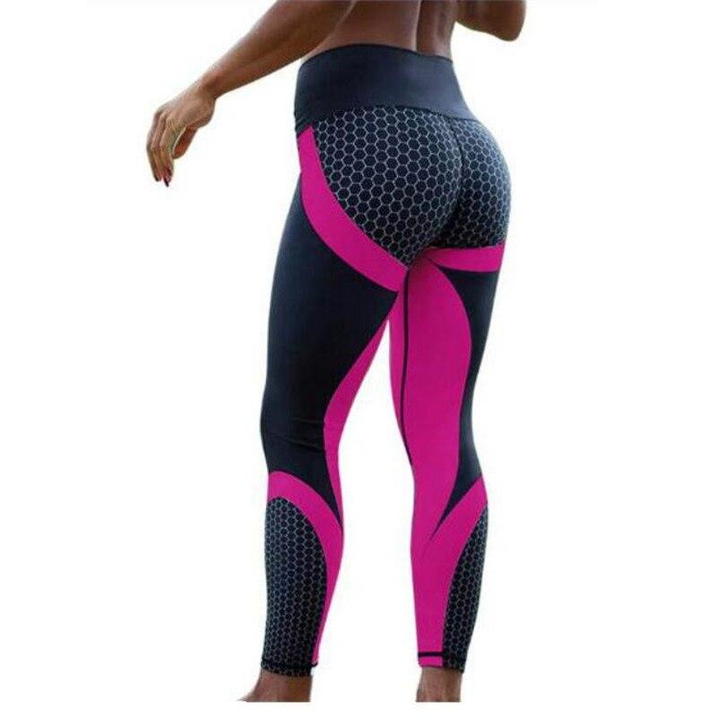 Color Women Mesh Pattern Print   Leggings   Fitness Sexy Women Sporting Workout Leggins Jogging High Waist Hot Sale Elastic Slim