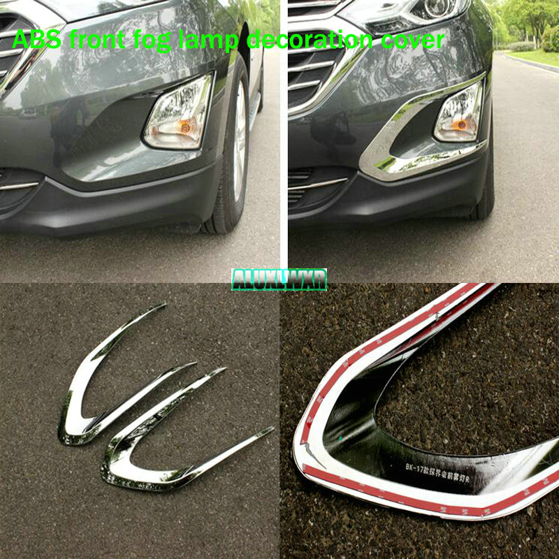 Car styling Front Fog Lamp Frame Modified Head Fog Light Decoration Cover For Chevrolet Holden Equinox