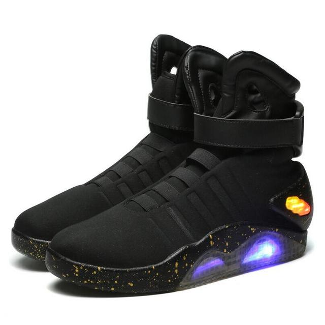 Men Basketball Shoes Led Light Shoes Men Sneakers High Quality Back