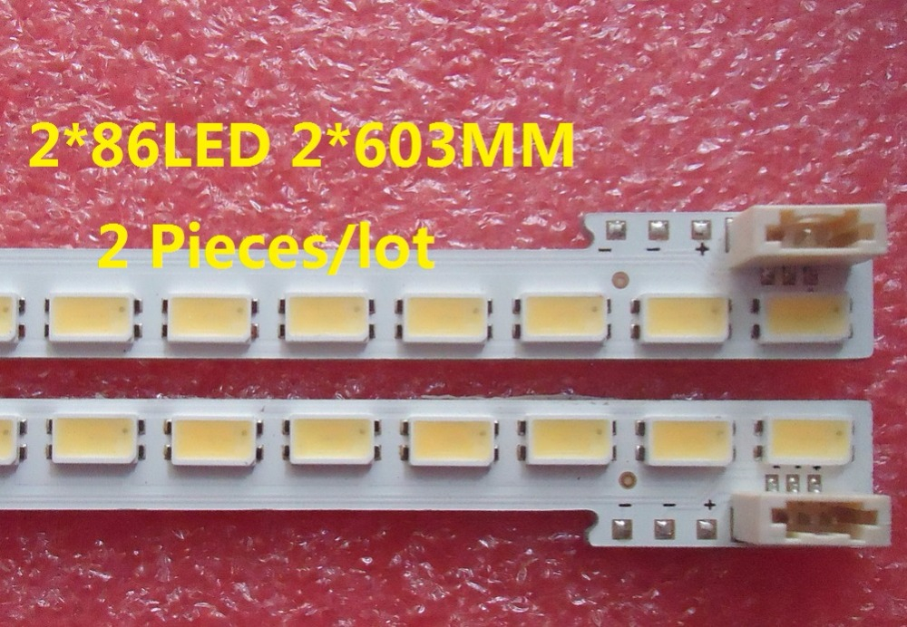 "led רצועת lj64 55"" 55-DOWN LJ64-03353A LED רצועת SLED 2011SGS55 5630 R L 86 H1 RVE1.0 עבור LTA55HQ16 86LED 603MM 2 חתיכות / הרבה (1)"