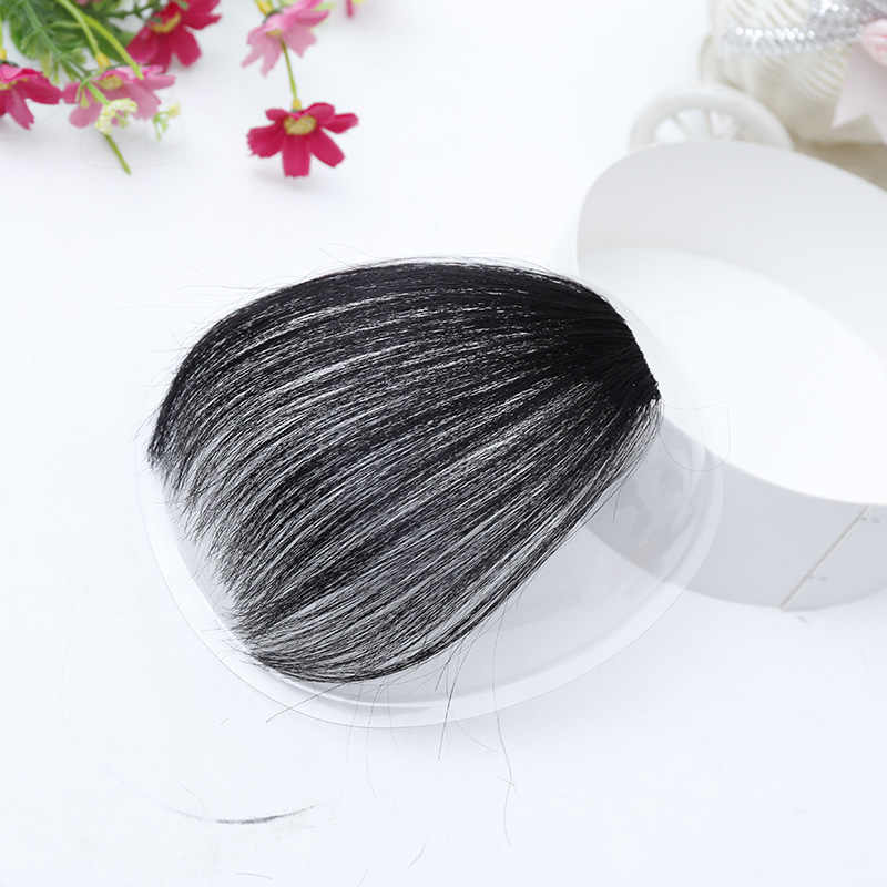 DIFEI bangs Clip horquilla negro marrón Rubio falso sintético bangs extensiones de cabello para mujer