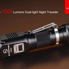 Sunwayman C22C фонарик 1000 люмен U2 светодиодный сбоку R5 светодиодный ночной Странник IPX8 нейтральный белый фонарь