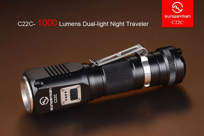2015 NEW Sunwayman C22C flashlight 1000 lumens U2 LED side R5 LED night traveler IPX8 NEUTRAL WHITE torch libresse natural care ultra normal прокладки гигиенические 10 шт
