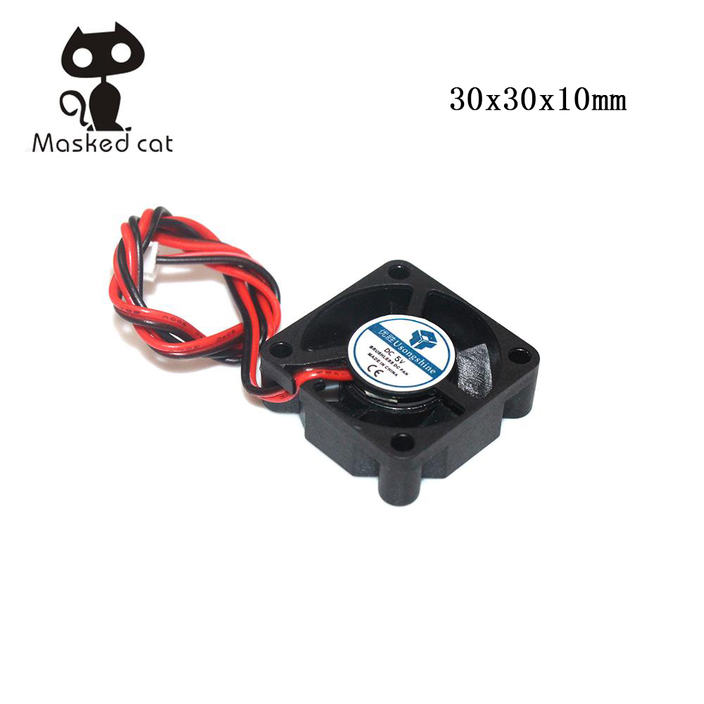 DC 5V 12V 24V 3010 Fan Cooling Brushless Mini Fan 30*30*10MM Cable 2Pin Radiator Black For 3D Printer Parts Reprap