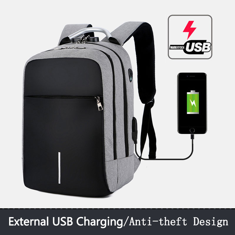 Multifonction USB charge hommes 13-15.6 pouces sacs à dos d'ordinateur portable grande capacité Anti-vol cartable décontracté voyage sac à dos