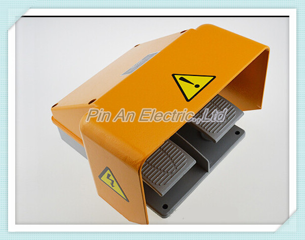 YDT1-18 Foot Switch Pedal Foot Control Switch 380V 10A double pedal use for bending machine punch wholesale price foot control pedal for welding machine