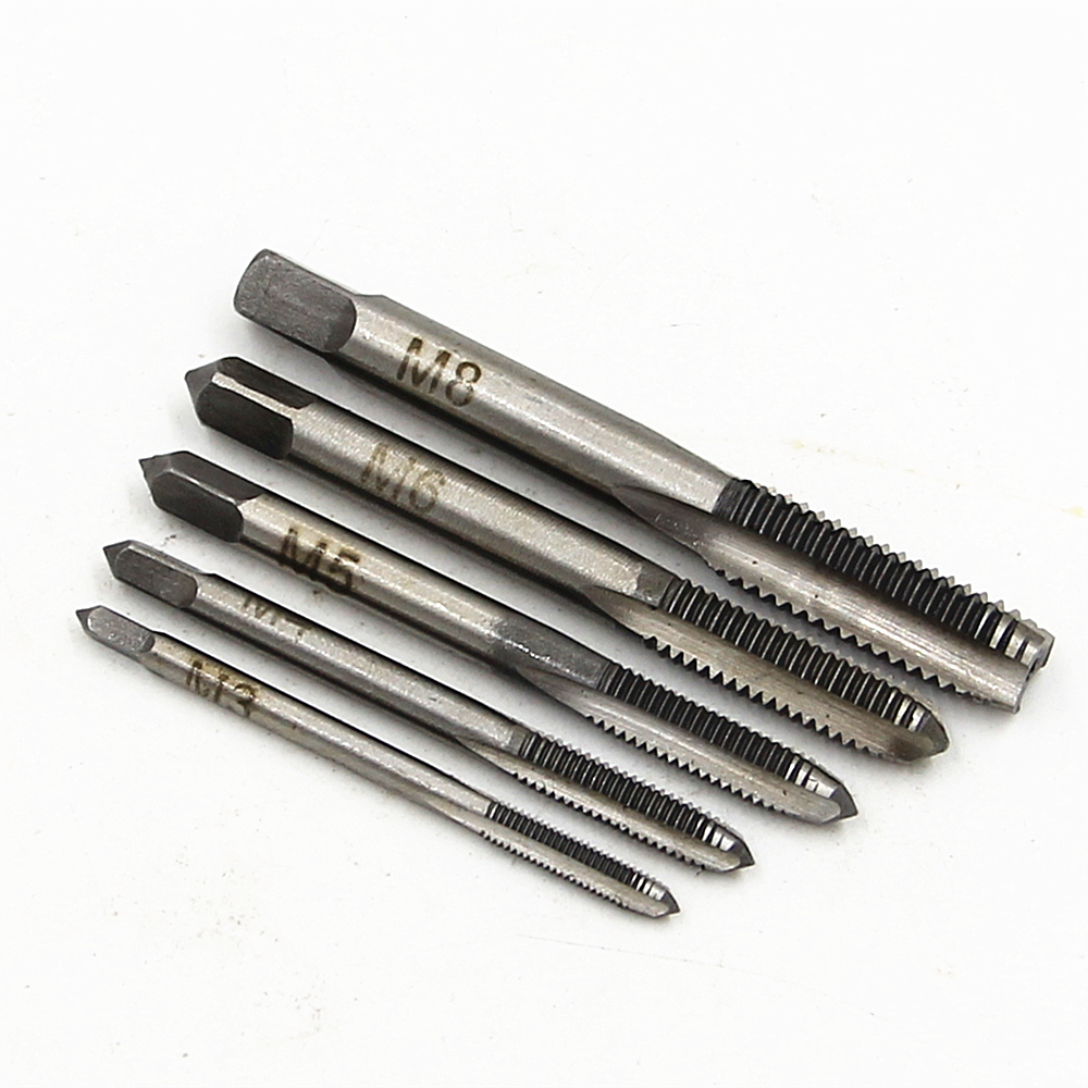 5PCS / Set HSS Hand Tap M3 M4M5 M6 M8 Tap Machine Spiral Point - ابزار دست