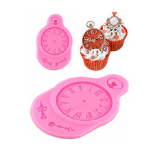 Cake Decorating Tools Watches And Clocks Cartoon Liquid Fondant Cake Mold Handmade Chocolate Dessert Decoration Diy Bakeware cheap Cake Tools TUTULE LFGB GJ-A211 Silicone Rubber Eco-Friendly Moulds 9 0*5 8*0 8cm about 26g Food-grade liquid silicone environmental protection