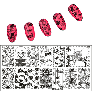 New Arrival Christmas&Halloween Pattern Nail Stamping Plates Image Stamping Nail Art Manicure Template Nail Stamp Tools