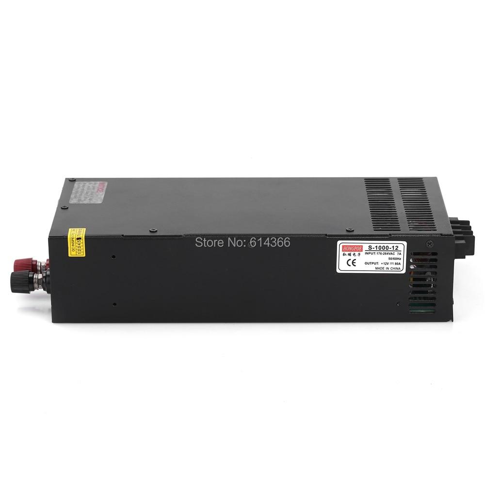6PCS 1000W 12V 80A LED power 12V Power Supply 12V 80A AC-DC High-Power PSU 1000W cenmax vigilant v 6 a