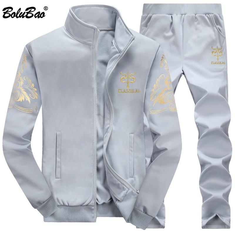 BOLUBAO Men Tracksuit Outwear Set 2 Pieces Autumn Sporting Male Fitness Sweatshirts & Sweatpants Sets Men's 1
