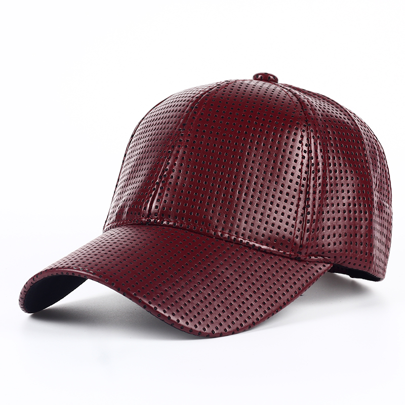 Wholesale Hot PU Black Baseball Cap Women Fall Leather Cap Trucker Cap Fitted Snapback Hats For Men Winter Hat For Women