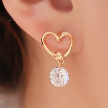 1Pair Fashion Stud Jewelry Women Hot Sale Hollow Love Heart