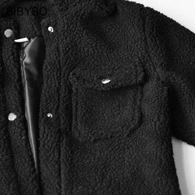 SIBYBO Teddy Cozy Autumn Winter Women Coats and Jackets Long Sleeve Slim Crop Top Women Pockets SIBYBO Teddy Cozy Autumn Winter Women Coats and Jackets Long Sleeve Slim Crop Top Women Pockets Warm Casual Short Jacket Women