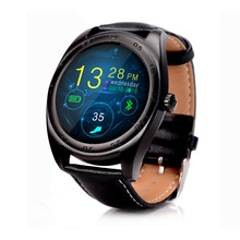 K89 Mode-stil SmartWatch Leder Track Armbanduhr Bluetooth Armband Pulsmesser Schrittzähler Dialing Für Android IOS
