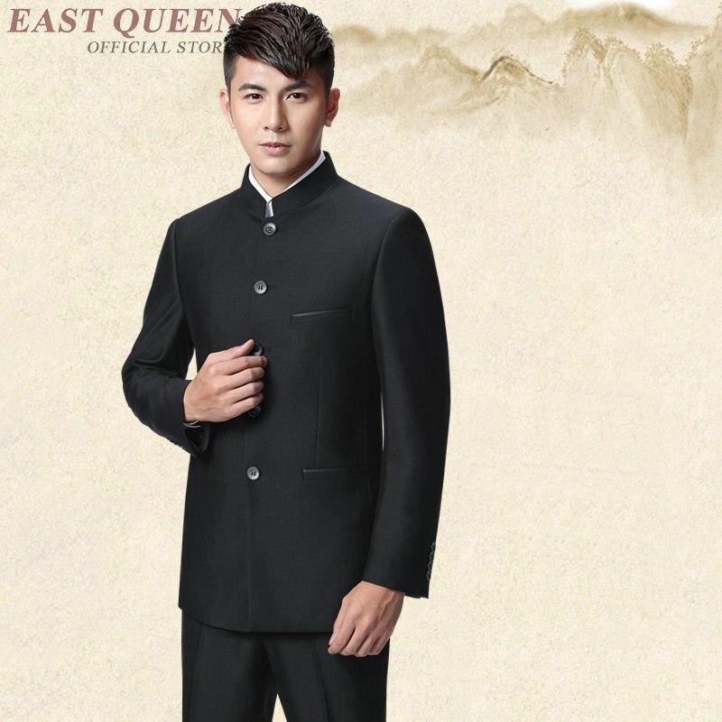 Erkek Kıyafeti'ten T. Elbise'de Mandarin yaka takım elbise erkekler için tang zhongshan takım elbise AA4011'da  Grup 1