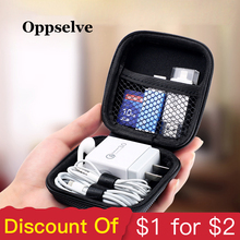 Oppselve Mobile Phone Accessories Storage Package Portable Mini Case For Earphone/USB Cable/ Charger/ USB Drive/ Memory Card Bag