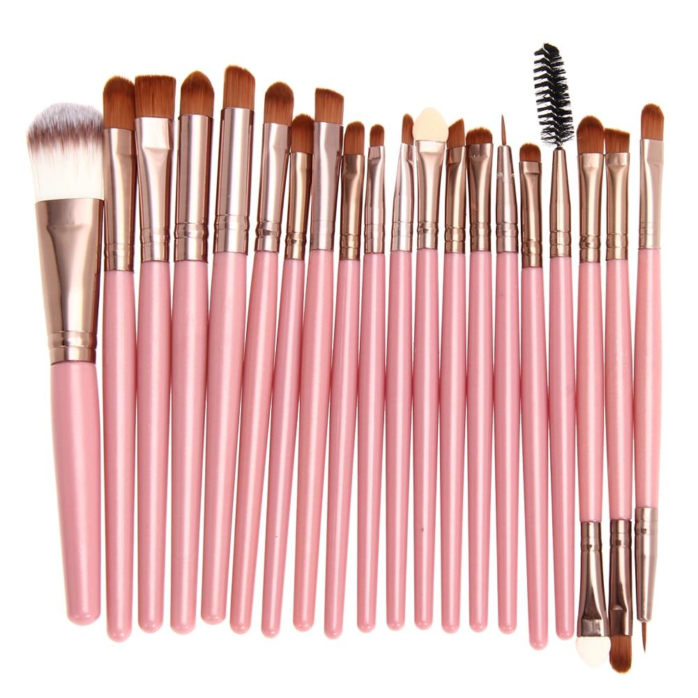 20ピース化粧ブラシアイシャドー化粧ブラシセットキットpinceaux maquillage用ファンデーションパウダー唇目pincel de maquiagem