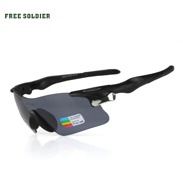06880a7316 FREE SOLDIER Cycling Eyewear sport sunglasses men sports eyewear Racing  tactical goggles Polarized light bulletproof glasses