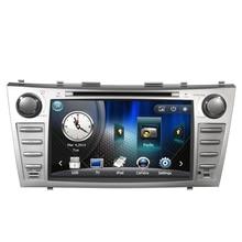Envío Libre 8 pulgadas de Coches Reproductor de DVD Sistema de Navegación GPS Para Toyota Camry 2007 2008 2009 2010 2011 BT control Del Volante