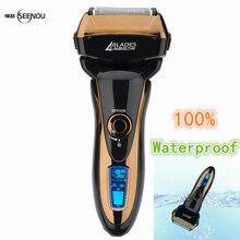 NUEVO envío Rápido Impermeable Recargable de Carga Rápida de Afeitar máquina de Afeitar Eléctrica Para Los Hombres de Los Hombres Barba Trimmer Máquina de Afeitar de Viaje
