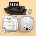 Schalldämpfer Dichtung Air Guide Untere Abdeckung Platte Für HONDA GX35 GX 35 Einzel Zylinder Motor Rasenmäher Trimmer Generator wasser Pumpe-in Rasenmäher aus Werkzeug bei