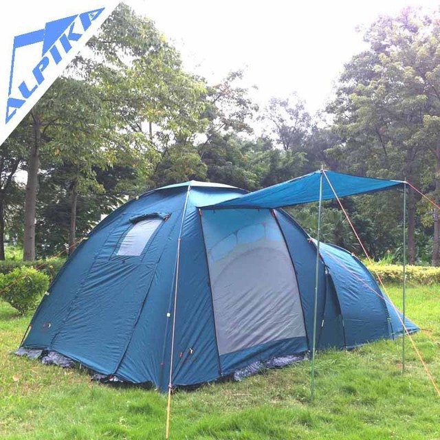 Hot sale 4 Person Family Dome Tent tourist c&ing tent for family c&ing outdoor & Hot sale 4 Person Family Dome Tent tourist camping tent for ...