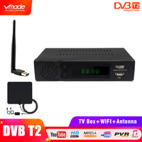 Vmade Full HD 1080P Digital Terrestrial Receiver DVB T2 8939 with USB wifi Dongle + Indoor Amplified TVAntenna HB01 SET TOP BOX