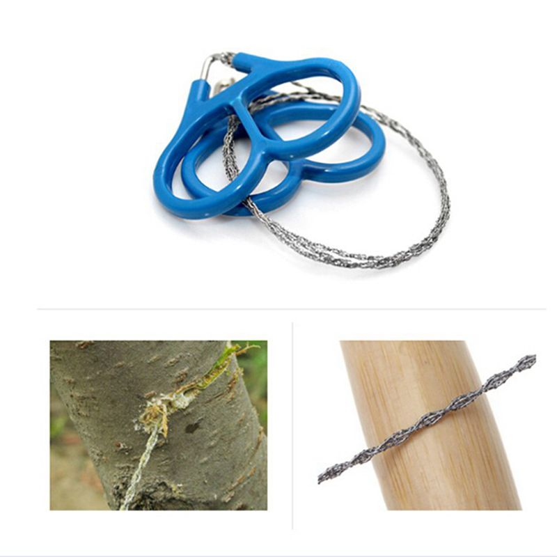 Ring Steel Wire Saw Scroll Plastic Emergency Hand Chain saw Chain Rope Saw Hunting Camping Hiking Travel Survival Tool 1Pcs