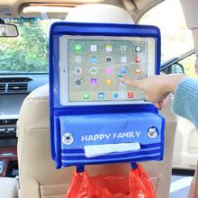 Cartoon Car BackSeat Hanging Storage for IPad and Tissue Box