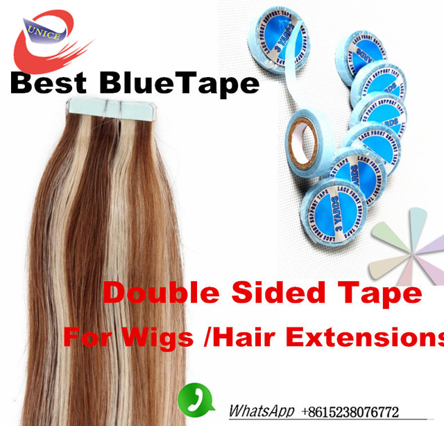 Lacefront Support Tap Glue Tape For Hair Extension Blue Tape For