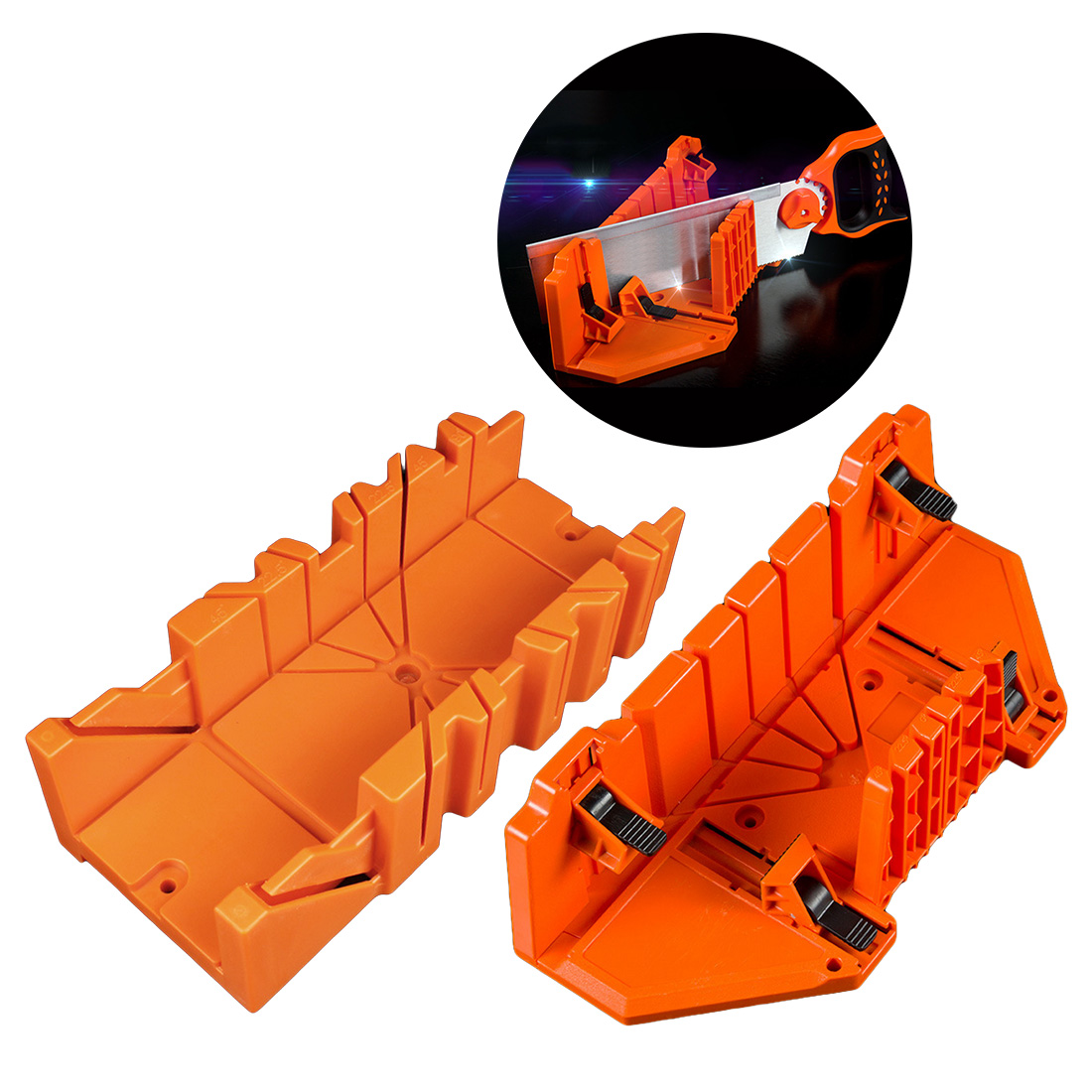 New 12 /14 Inch Miter Saw Cabinets Multifunction Woodworking Hand Tools Home DIY Wood Working Hand Saws Clamped Box