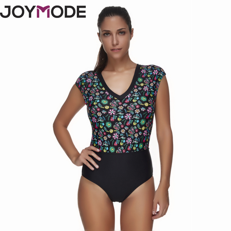 JOYMODE 2017 Ladies Retro Sexy Floral Printed Monokini Swimsuit Patchwork Mosaic Women One Piece Swimwear Bathing Suits -E все цены