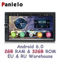 Panlelo S1 плюс 2 Din Android 6,0 2G RAM 32G ROM 7 дюймов 1080 P gps радио 2din Android мультимедиа для Лада Веста Chevrolet Cruze