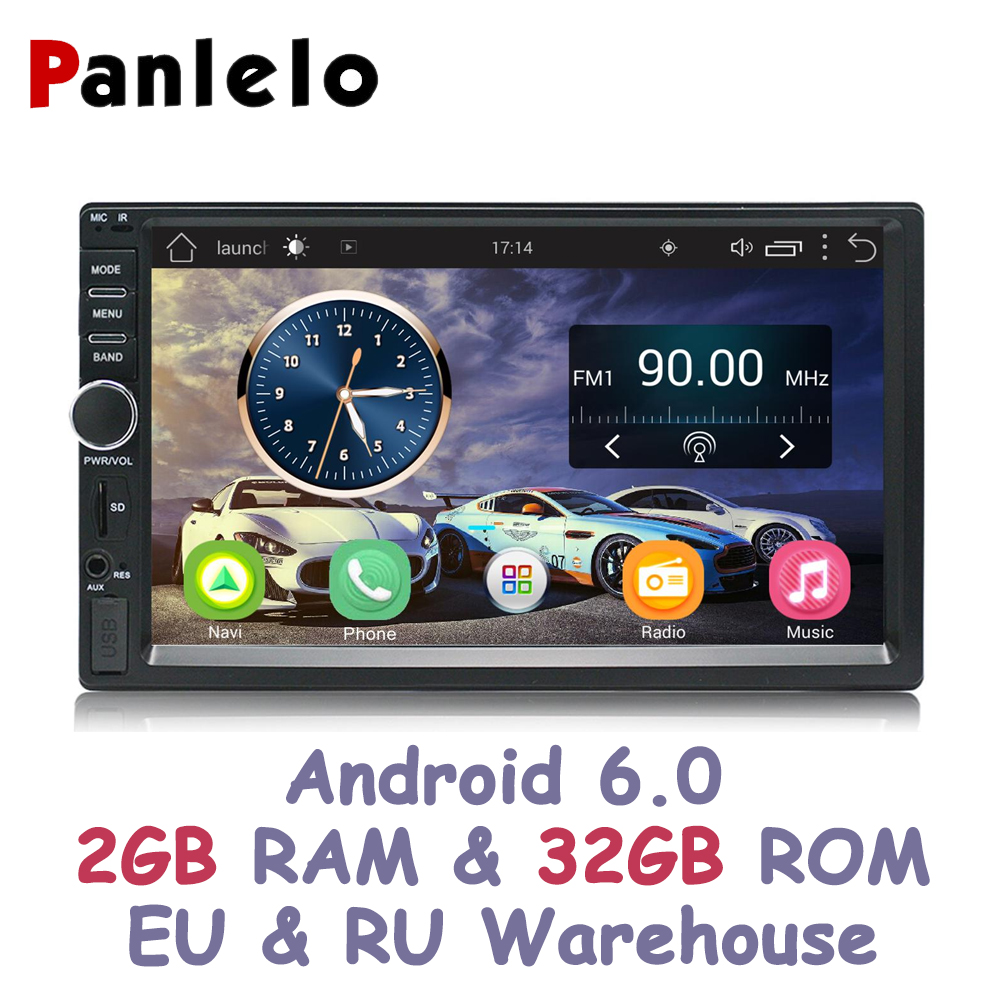 Panlelo S1/S1Plus 2 Din Android 2G RAM 32G ROM 7 pouces 1080 P GPS Radio 2din Android multimédia pour Lada Vesta Chevrolet Cruze
