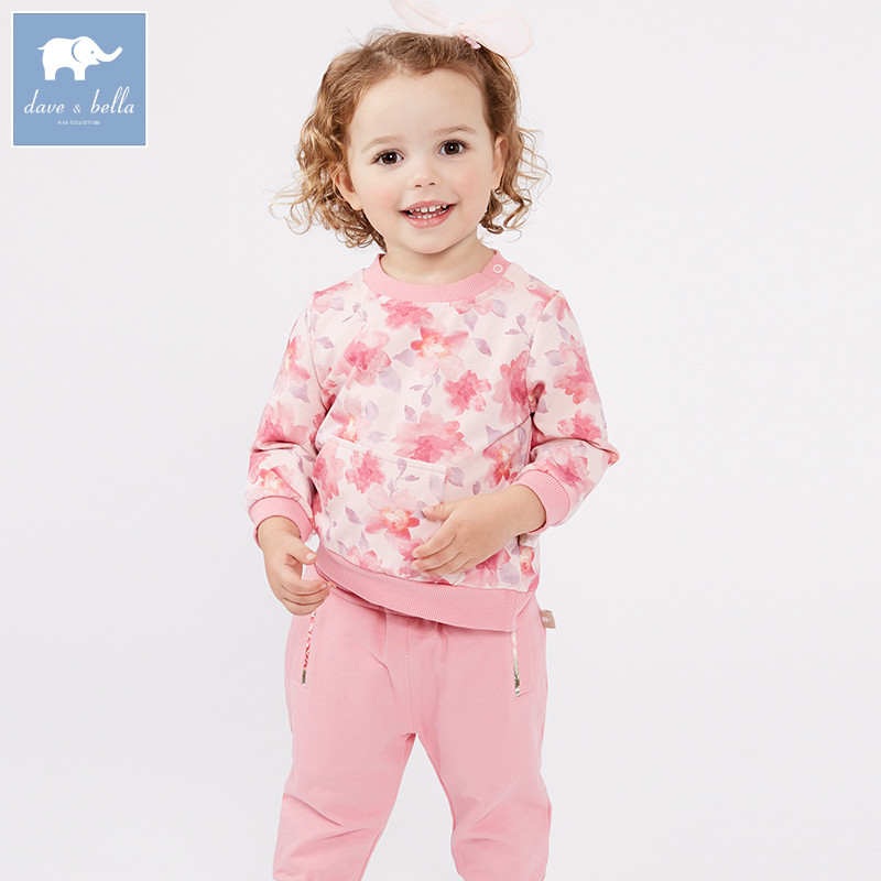 DBM7132 dave bella spring baby girls clothing sets kids floral suit children toddle outfits high quality clothesDBM7132 dave bella spring baby girls clothing sets kids floral suit children toddle outfits high quality clothes
