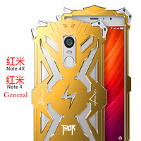 Simon Aluminum Shockproof Metal Thor Ironman Protect Cases For Xiaomi Redmi Note 4 Hongmi Note 4X