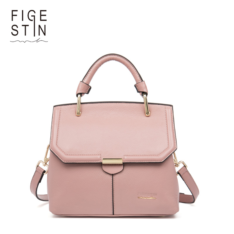 FIGESTIN Women's Handbags Women Bag Female Genuine Leather Totes Famous Designer Rrand Bags Luxury Designer Shoulder Bags Bolsas new arrival handmade famous picture pattern women genuine leather handbags female shoulder bags woman totes