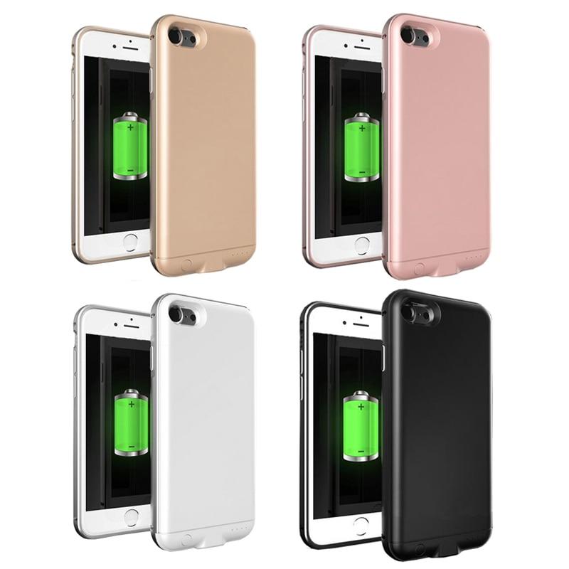 imágenes para I7 caja del teléfono caja de la batería 3000 mah cargador de batería powerbank reserva portable batería externa caso de carga para iphone 7