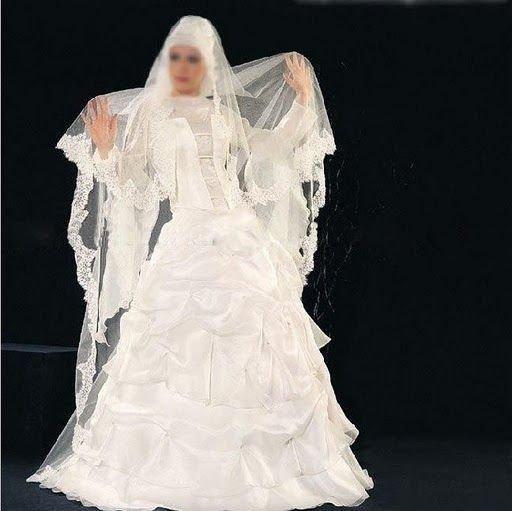 K1463 New Design Fashionable Wedding Dressmuslim GownMuslim Bridal Gownmuslim Gowns