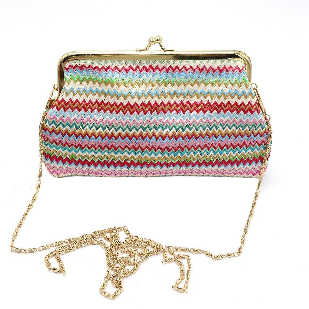 Damas tejer Arco Iris patrón cartera bolso de hombro bolsa de la ...