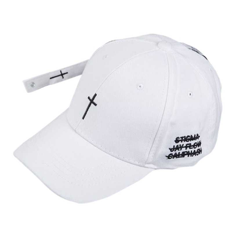 Detail Feedback Questions about Hot Baseball Cap Embroidered Cross Pattern  Hat Unisex Hip Hop Style Snapback Adjustable Baseball Hat Couple Caps ... fe86ddbc54c6