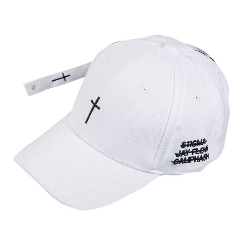 abaf6d645f943 Hot Baseball Cap Embroidered Cross Pattern Hat Unisex Hip Hop Style  Snapback Adjustable Baseball Hat Couple