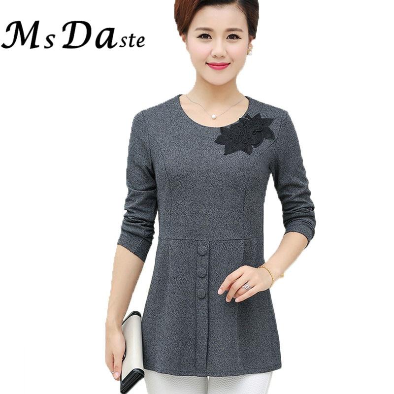 Donna casual tee shirt fiore vintage top Donna Camicie blusas Tuniche  femininas più il formato XL ~ 4 XXXXL Rosso Rosa blu Grigio f5b90424eec