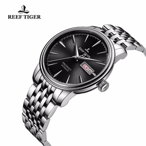 Image 3 - Reef Tiger/RT Dress Watches with Date Day Full Stainless Steel Watch Automatic Watches RGA8236
