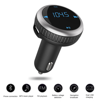 Lonleap New Car MP3 Audio Aux Player Bluetooth FM Transmitter Handsfree Wireless FM Modulator USB Charging Kit Car Styling Parts