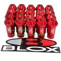 Blox Колесные Гайки Красный Цвет Колесные Гайки M12XP1.5 Открытого Состава Алюминиевые Гоночный Автомобиль Луг Гайка 20 шт./компл.